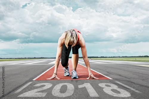 Poster  runner start runway 2018
