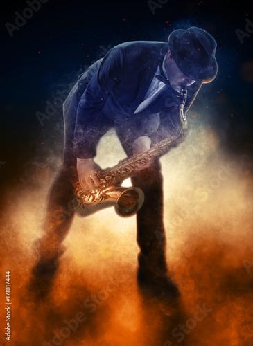 Fototapeta Saxophonist