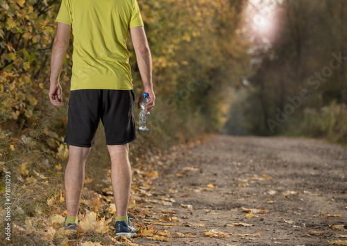Zdjęcie XXL bieganie podczas jesieni