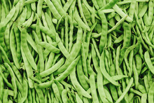 Fresh Green Beans ( String Bean ) In The Market