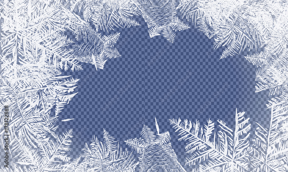 Fototapeta 2018 New Year on ice frosted background. Global colors. One editable gradient is used for easy recolor