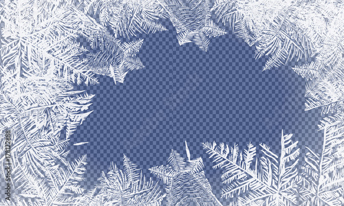 Obraz 2018 New Year on ice frosted background. Global colors. One editable gradient is used for easy recolor - fototapety do salonu
