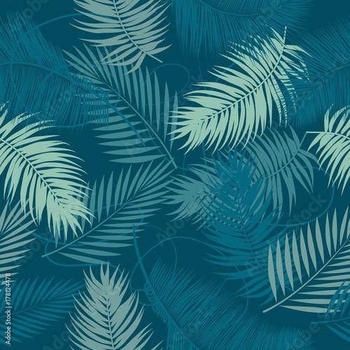 bezszwowego-wektoru-wzoru-tropikalni-liscie-drzewko-palmowe