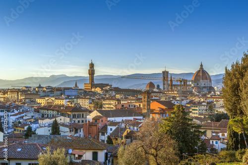 Plakat widok z Florencji, Włochy