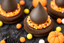 Chocolate Halloween Cookies, W...