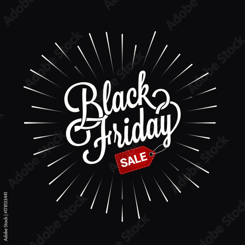 black friday logo star burst design background buy this stock