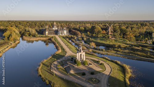 Aerial view of Bells Palace in Gifhorn, Germany Canvas Print