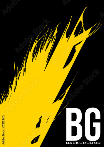 abstract simple poster template with yellow splash vector graphic