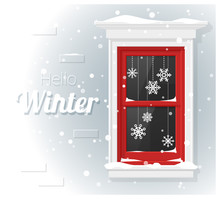 Hello Winter Background With W...