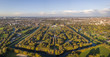 Aerial view of Herrenhausen Gardens in Hannover, Germany