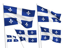 Vector Flags Of Quebec Provinc...
