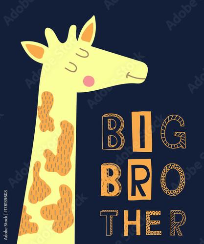 big-brother-haslem-nowoczesnej-mody-ilustracji-wektorowych-z-zyrafa-do-druku