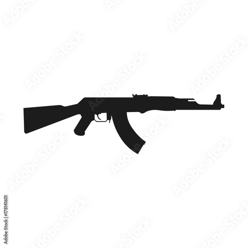Fotomural Assault rifle icon isolated on white