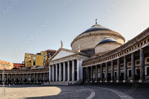 Garden Poster Napels Naples, Italy, church of San Francesco di Paola, Piazza del Plebiscito