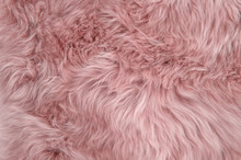 Pink Sheepskin Rug Background ...