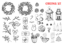 Christmas Hand Drawn Elements ...