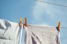 Drying Laundry On The Clothesl...