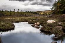 Dark Clouds Over Marsh In Nort...