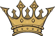 Golden King Crown. Hand Drawn ...