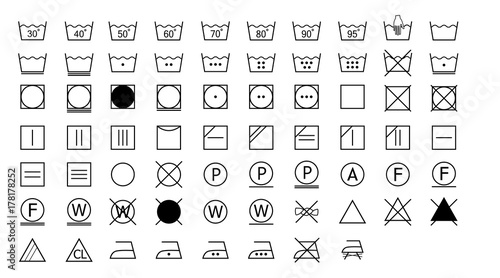 Fotografie, Obraz  Laundry Symbols