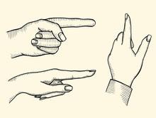 Index Finger Shows Gesture Upward