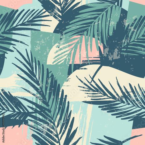 bezszwowy-egzotyczny-wzor-z-tropikalnymi-roslinami-i-artystycznym-tlem