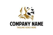 Labrador Retriever Dog Logo Vector Illustration