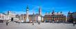 canvas print picture - Lille (France) / Grand place avec Vieille bourse et beffroi CCI