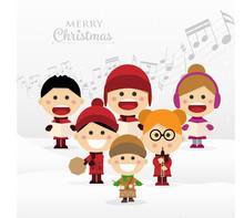 Group Of Children Singing Chri...