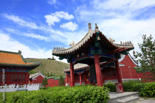 Plakat Chińskie świątynie budować