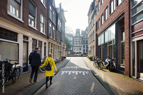 Photo  Walking by street of Amsterdam