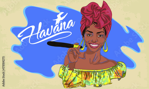 Fotografija cuban woman face