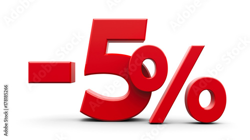 Photographie  Red minus five percent