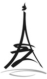 Fototapeta Fototapety z wieżą Eiffla - Eiffel Tower Paris vector