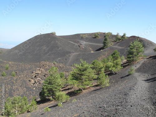 Fototapeta Krajobraz krateru na wulkan Etna.