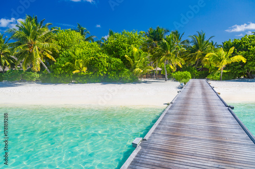 Tranquil Beach Scene Exotic Tropical Beach Landscape For