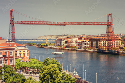 Vizcaya Bridge, links the towns of Portugalete and Getxo, Basque Country, Vizcaya, Spain