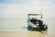 Speedboat On The Beach Wait A Trip To Island