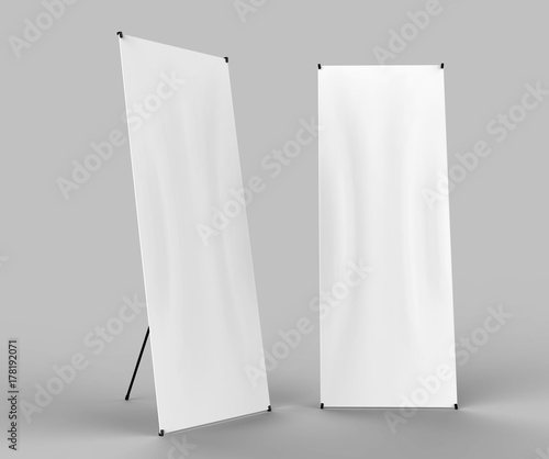 X-STYLE COLLAPSIBLE BANNER STAND READY FOR YOUR DESIGN