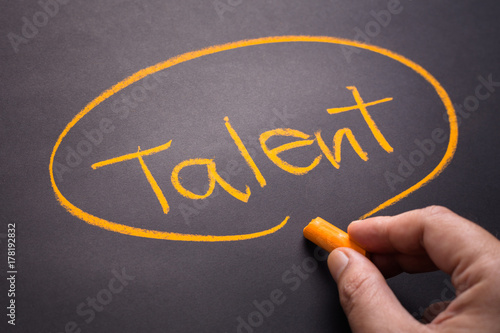 Talent By Chalk Wallpaper Mural