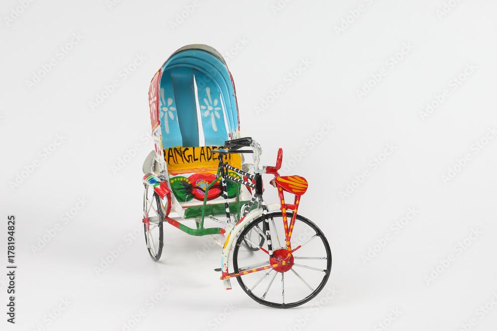 Valokuva  Colorful rickshaw toy