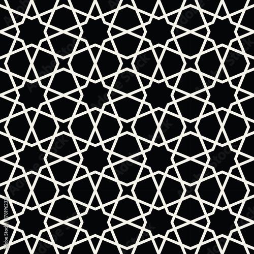 Zdjęcie XXL arabski geometryczny ornament bez szwu