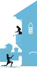 Romeo And Juliet Vector Illustration Silhouette
