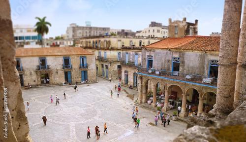 Spoed Foto op Canvas Havana Havanna - Altstadt, Plaza de la catedral