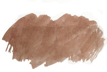 Brown Watercolor Stain With Te...