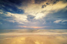 Surreal Seascape And Cloudscape Beach