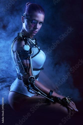 Foto op Plexiglas womenART cyborg woman
