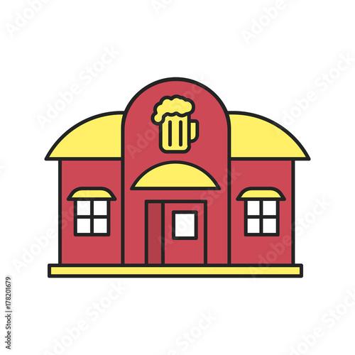 Photo Alehouse, beerhouse color icon