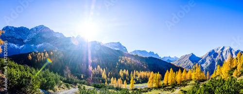 Poster Autumn karwendel mountains