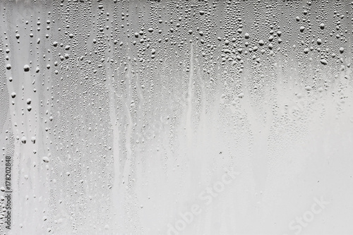 Leinwand Poster Texture of the rain on the glass